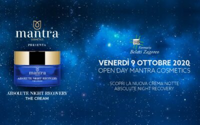 Open Day Mantra Cosmetics – 9 Ottobre 2020